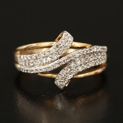 10K 0.33 CTW Diamond Bypass Ring