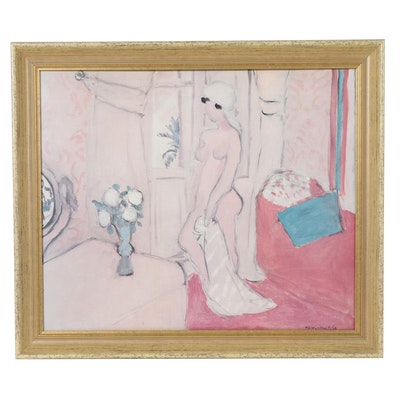 "Offset Lithograph After Henri Matisse ""Nu au Turban Blanc"""