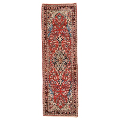 3'9 x 12' Hand-Knotted Persian Mahal Long Rug