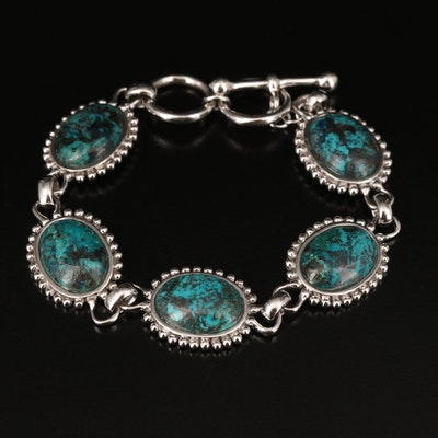 Sterling Eilat Stone Bracelet