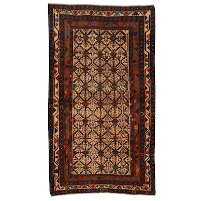 3'9 x 6'8 Hand-Knotted Afghan Turkmen Area Rug