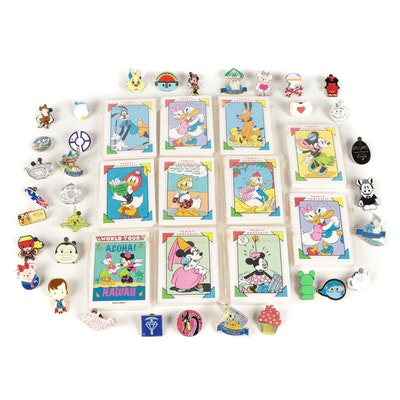 Disney Trading Cards with Souvenir Pinbacks