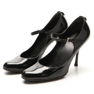 Gucci Mary Jane Pumps in Black Patent Leather