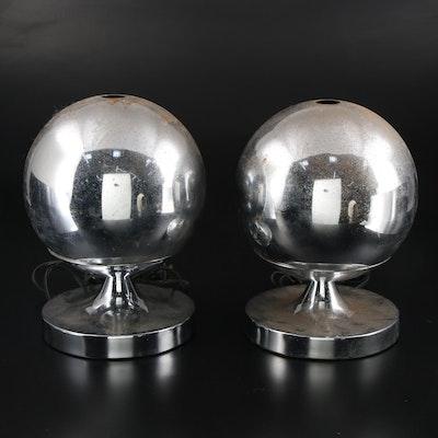 Gilbert Chrome Fiber Optic Color Wheel Lamps, Late 20th Century