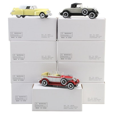 Arko Lincoln Dietrich, Roadster and Continental 1:32 Scale Diecast Model Cars