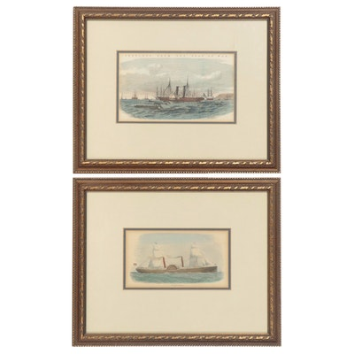 """""""Sketches From The Seat of War"""" and """"Steamer Adriatic"""" Engravings"""
