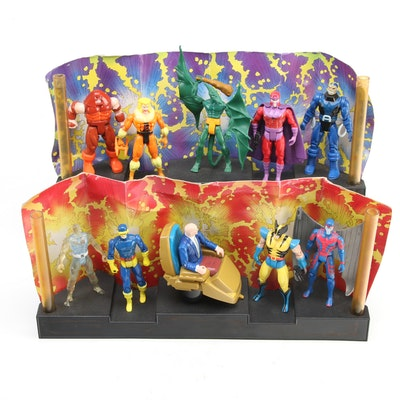 Toy Biz X-Men Hall of Fame Action Figure Displays, 1993