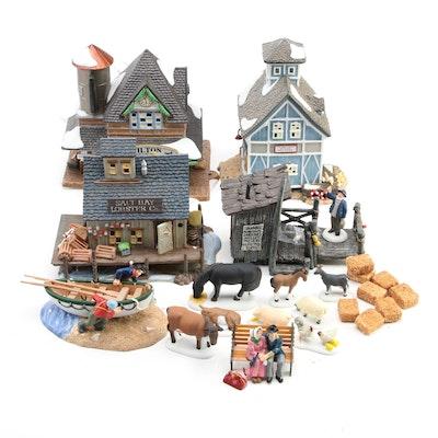 "Department 56 ""New England Village"" Series Porcelain Figurines and Décor"