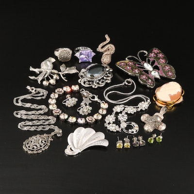 Vintage Sterling Jewelry Collection Featuring Van Dell and Danecraft