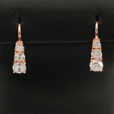 Sterling Cubic Zirconia Graduated Earrings