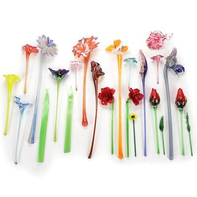 Handblown Art Glass Flowers