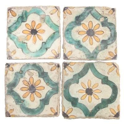 Antique Tunisian Ceramic Tiles, 19th Century