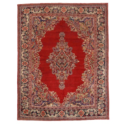 11' x 13'10 Hand-Knotted Persian Mahal Room Size Rug