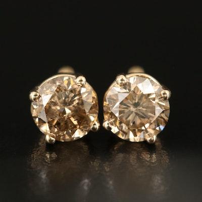 14K 1.30 CTW Diamond Earrings
