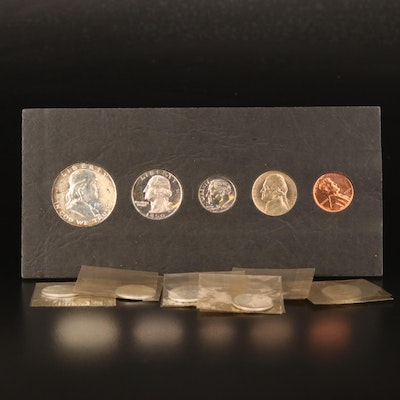 1950 Proof Set and Seven Roosevelt Silver Dimes