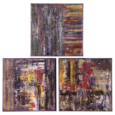 Magdalena Halikotic Abstract Acrylic Paintings, 21st Century