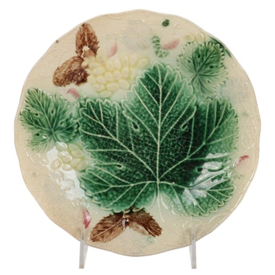 Hand-Painted Majolica Decorative Plate