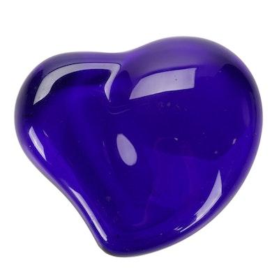 Elsa Paretti for Tiffany & Co. Cobalt Blue Heart Paperweight