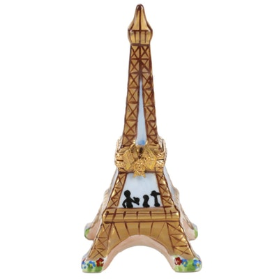 Hand-Painted Eiffel Tower Porcelain Limoges Box