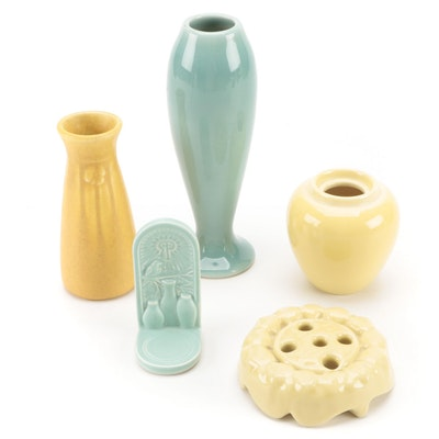 Rookwood Pottery High Gloss and Matte Glaze Vases, Flower Frog, and More