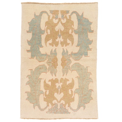 4'6 x 6'8 Hand-Knotted Turkish Donegal Style Oushak Area Rug