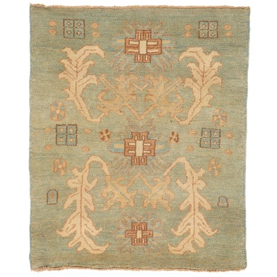 4'5 x 5'5 Hand-Knotted Turkish Donegal Area Rug
