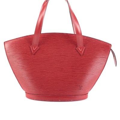 Louis Vuitton Saint Jacques Tote Bag Short Handles in Castilian Red Epi Leather