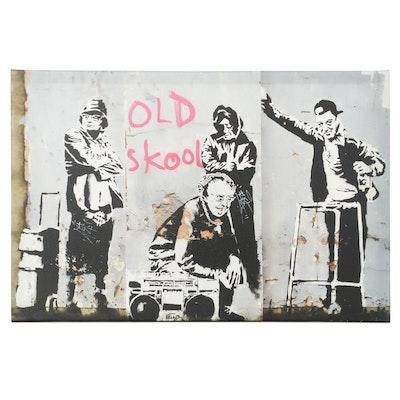 """Giclée After Banksy """"Old Skool"""""""