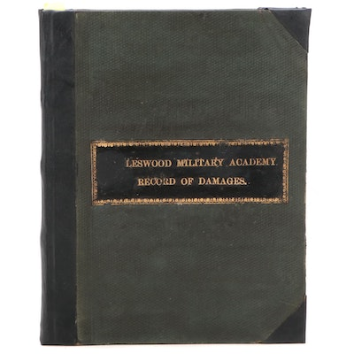 """""""Eagleswood Military Academy Record of Damages"""" Log Book, c. 1882"""