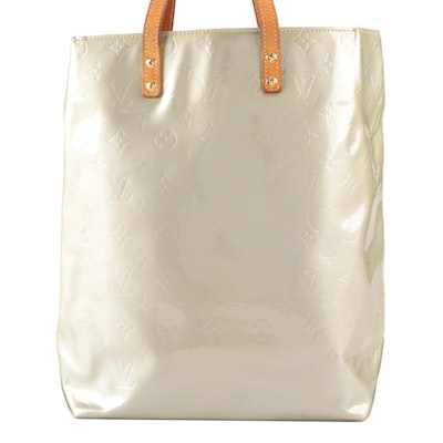 Louis Vuitton Reade Tote Bag MM in Monogram Vernis and Vachetta Leather