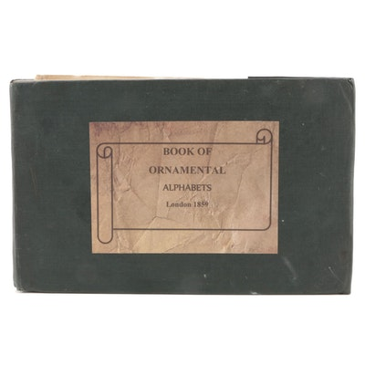 """Second Edition """"The Book of Ornamental Alphabets,""""  1859"""