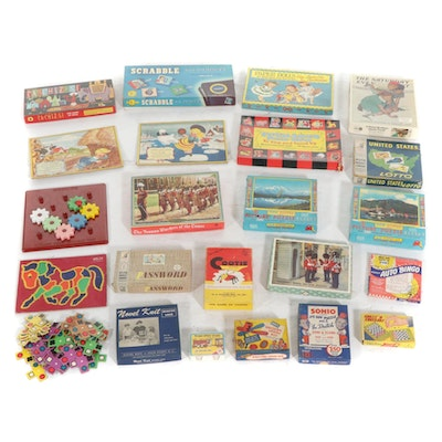 """Games and Puzzles Including """"Yahtzee"""", """"Scrabble for Juniors"""", and More"""