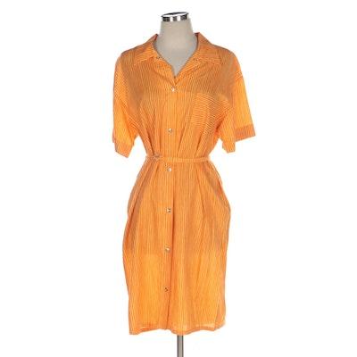 Marimekko Vertical Stripe Shirt Dress
