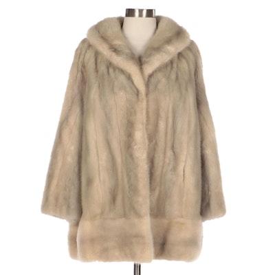 Sapphire Blue Mink Fur Coat by Kermend + Son Fine Furs