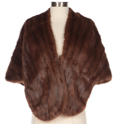 Nutria Fur Stole by L. Bamberger & Co.
