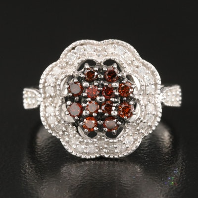 Sterling 0.40 CTW Diamond Ring