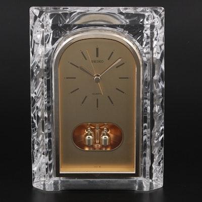 Seiko Crystal Anniversary Mantle Clock