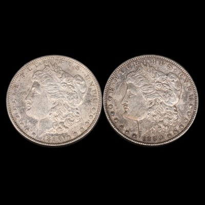 1896 and 1900 Morgan Silver Dollars
