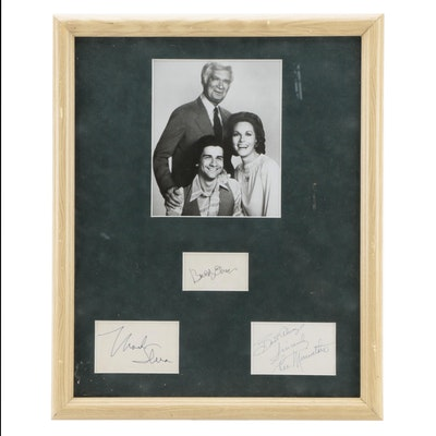 Barnaby Jones Cast Signatures, Matted in Frame