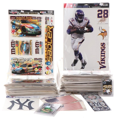 NFL, MLB, NCAA, NBA, NHL and NASCAR Decals and Window Clings