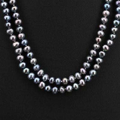 Semi-Baroque Pearl Opera Length Necklace