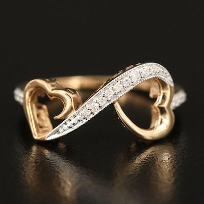 10K 0.08 CTW Diamond Infinity Heart Band