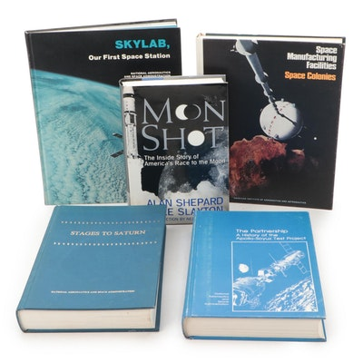 """Jewell W. Moody Signed """"Stages to Saturn"""" with More Space and NASA Books"""