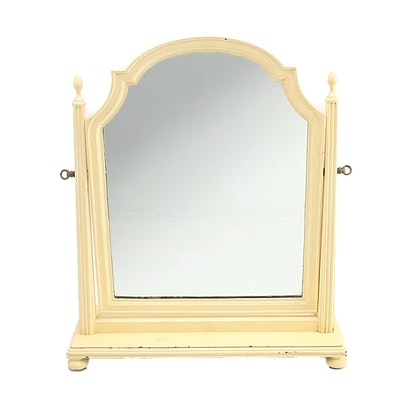 Painted Wood Tabletop Vanity Mirror