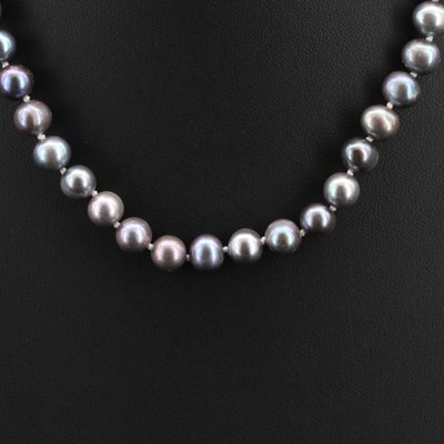 Semi-Baroque Pearl Necklace