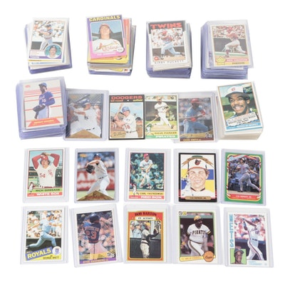 1970s-2000s Baseball Cards with Hall of Fame and Star Players