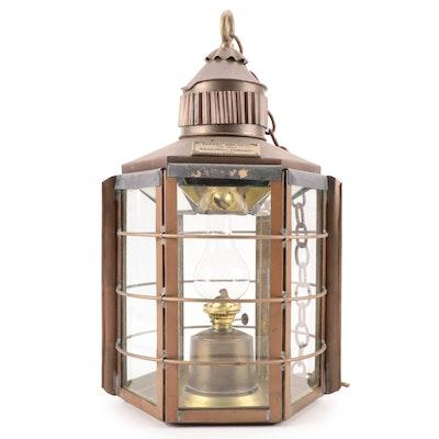 Copper and Brass Clipper Ship Lamp No. 1255