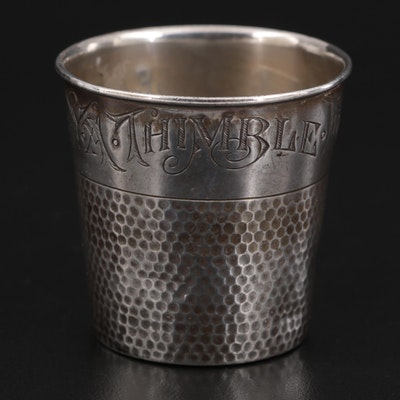 """Webster """"Only a Thimble Full"""" Sterling Silver Shot Cup"""