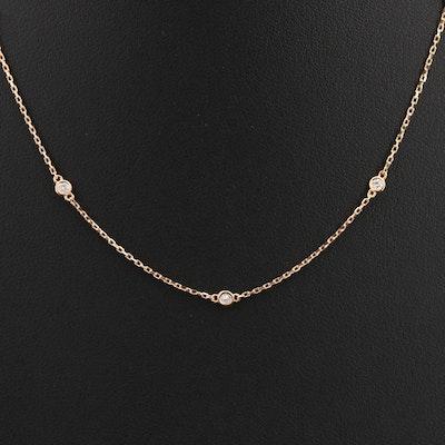 18K 0.27 CTW Diamond Station Necklace