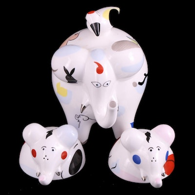 """Villeroy & Boch """"Animal Park"""" Elephant Figure with Shakers"""